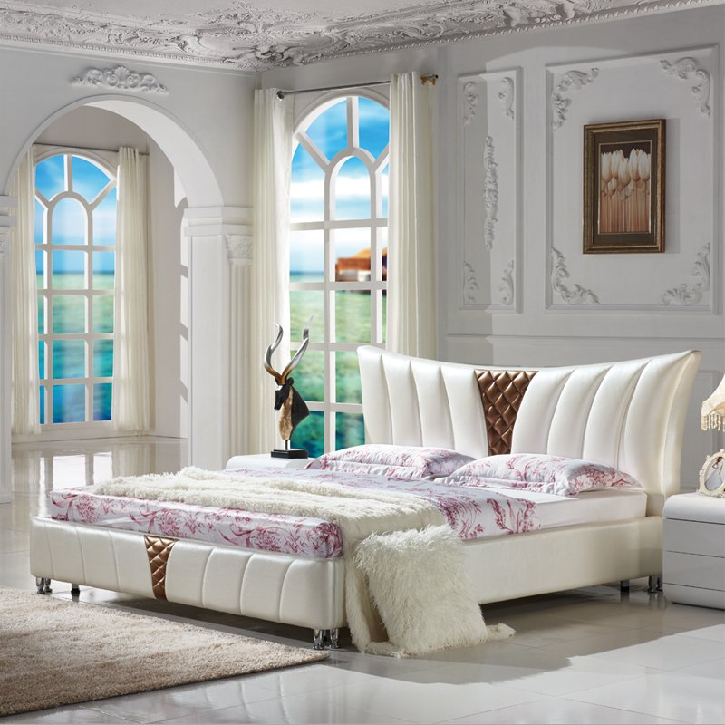 Find Dubai Style Bedroom Furniture Queen Size Leather Modern Bed...
